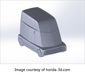3d-printed model of honda concept vehicle