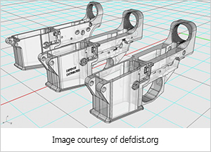 computer-aided design for 3d-printed receiver for an assault rifle