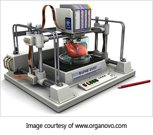 concept image of 3d-printer printing organ